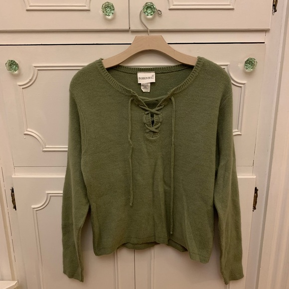 Fashion Bug Boho Green Sweater